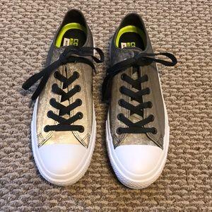 Converse gray iridescent shoes